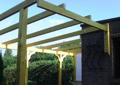 Terrassenüberdachung während der Bauphase