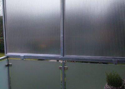 Durchsichtige Wind & Sichtschutz Platten
